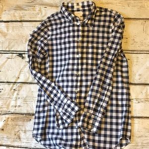J.Crew Boy Fit Blue/ White Gingham Small